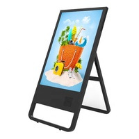 Free stand 43 inch interactive advertising digital signage with Android OS touch screen flash ads display