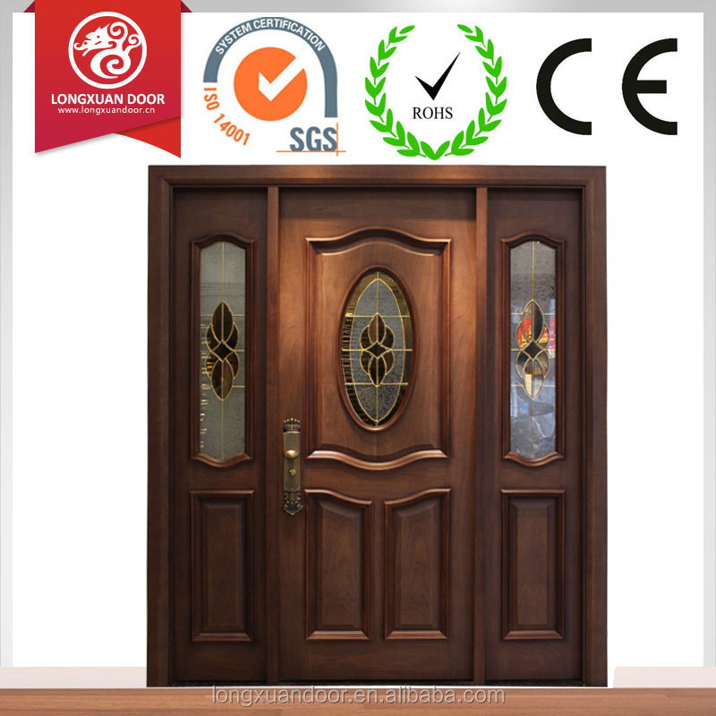 Villa main gate door design, wooden main door design, french door with two side panels