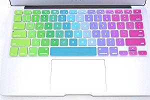 """HQF® [12-in Laptop Keyboard Skin]- Silicone Rubber Keyboard Cover Skin Stickers Protector for 12"""" New Apple Macbook 12-Inch with Retina Display 2015 *US Version*(Multi-color)"""