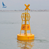IALA solar navigation light fitted channel mark buoy