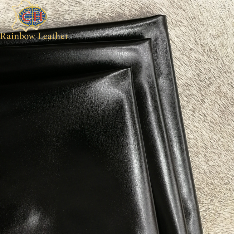 India Imported China Wholesale Black Smooth Oil Heated Polishing Sheepskin Leather for Shoes