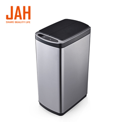 Household product touchless 13 gallon automatic sensor stainless steel waste bin