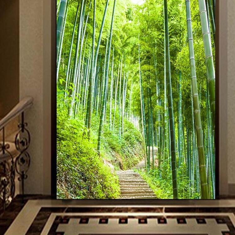 Thuis woonkamer TV achtergrond 3d bamboe muurschildering thai muur ...