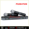 PG288-PG58 Dual Channel Handheld UHF Wireless Microphone