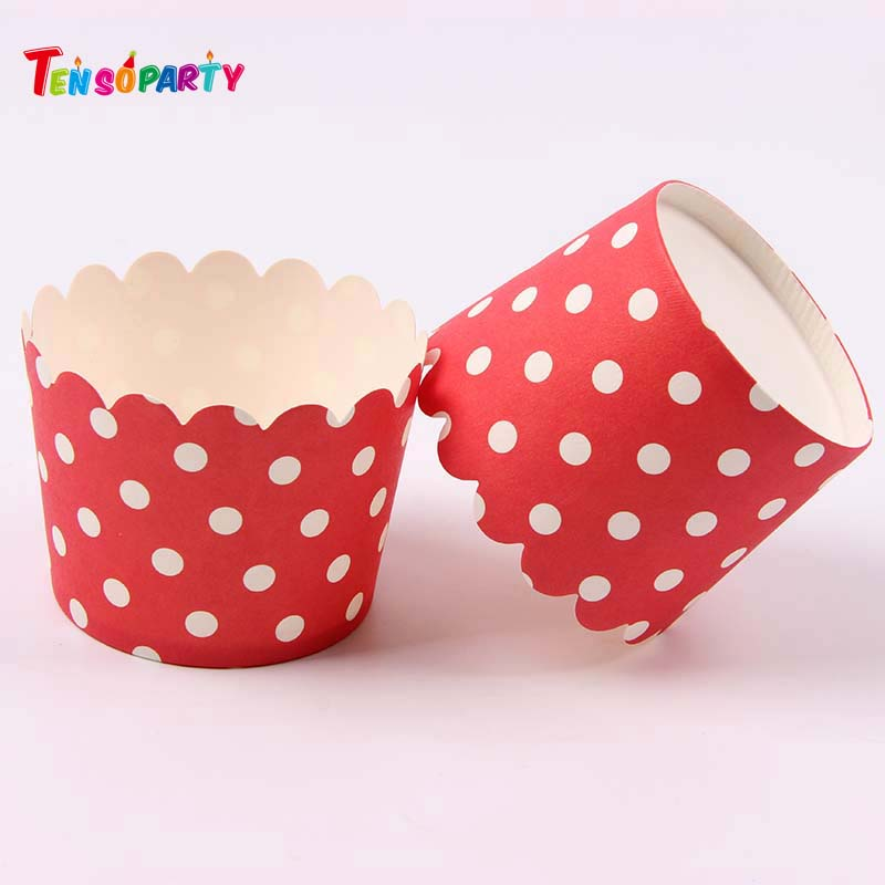 Food grade color printing tulip muffin cups cake paper/ripple wall paper cup/cake wrapping paper disposable paper cake cup
