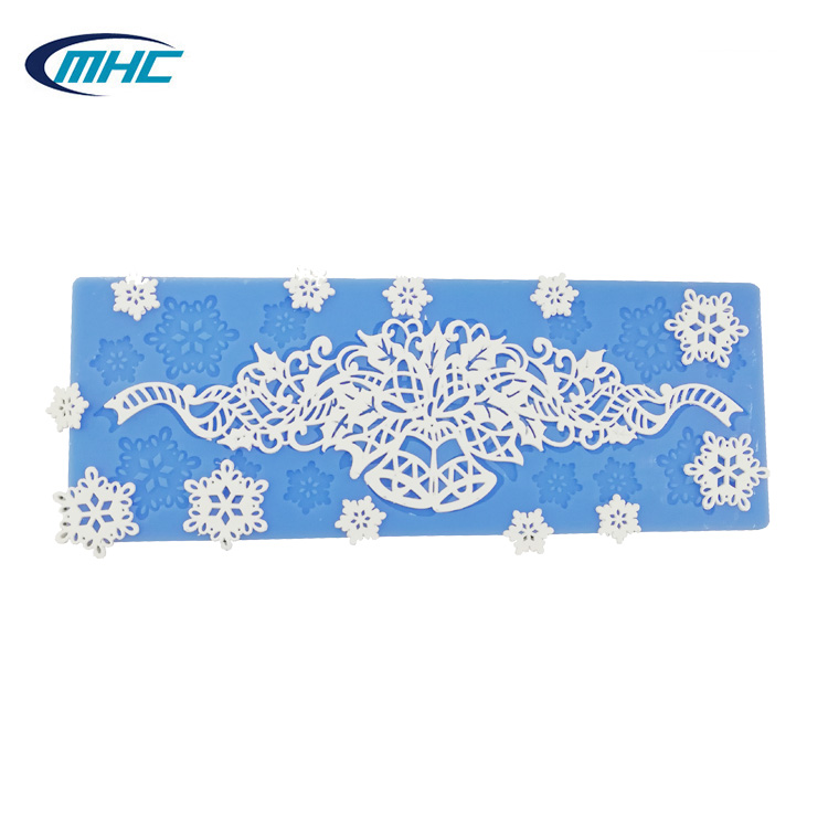 Hot trends fondant cake mold, silicone surrounding edge lace mat фото