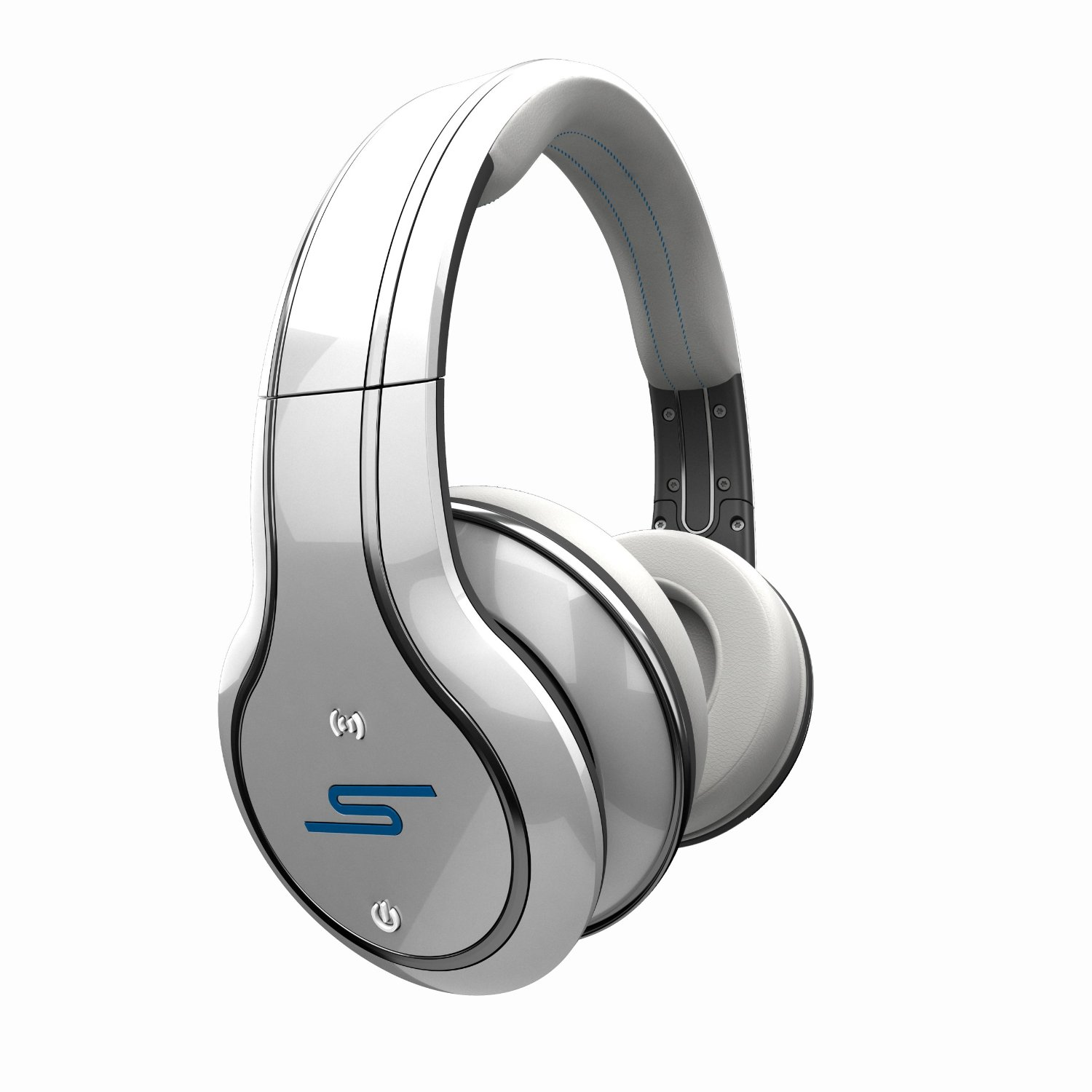 SYNC by 50 Cent Wireless Over-Ear Headphones - White by SMS Audio (Discontinued by Manufacturer)