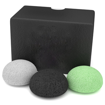 Natural Black Bamboo Charcoal Konjac Sponge for Face and Body Wash