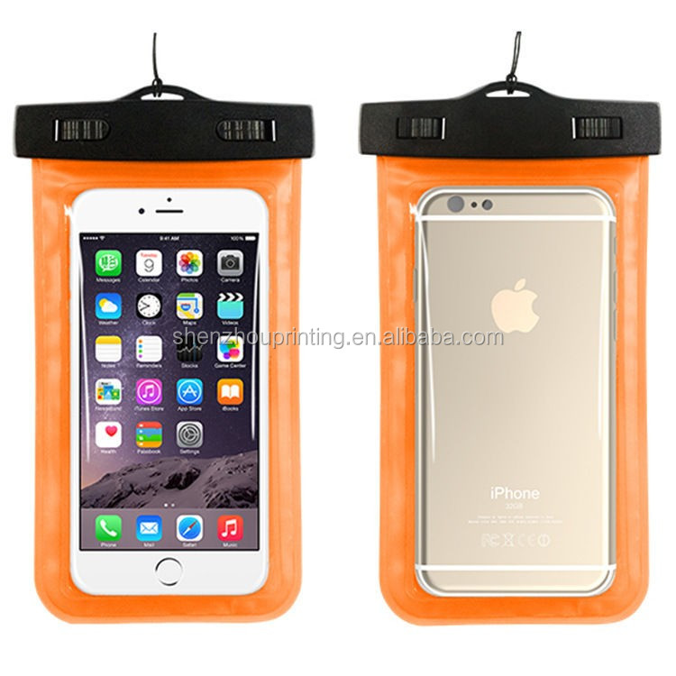 New design fashion custom portable transparent PVC diving waterproof bag for mobile phones underwater pouch case