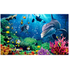 Hot selling 3d mural wallpaper undersea world cartoon designs for kids room home decoration