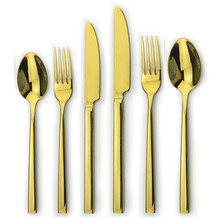 factory direct gold cutlery, high quality inox cutlery set