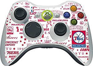 NBA Philadelphia 76ers Xbox 360 Wireless Controller Skin - Philadelphia 76ers Historic Blast Vinyl Decal Skin For Your Xbox 360 Wireless Controller