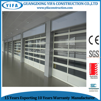 Strong Safety Waterproof Fire Resistant Glass Garage Door Prices