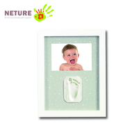 Baby Handprint Footprint Photo Frame kit Baby Clay Prints Photo Frame for Baby Registry Gift