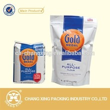 paper/plastic zipper flour bag with foil lined for all purpose flour packing