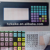 custom graphic overlay membrane keypad with Metal Dome
