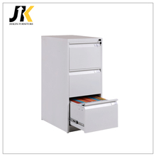 Office furniture with white 3-drawer steel vertical card file cabinet