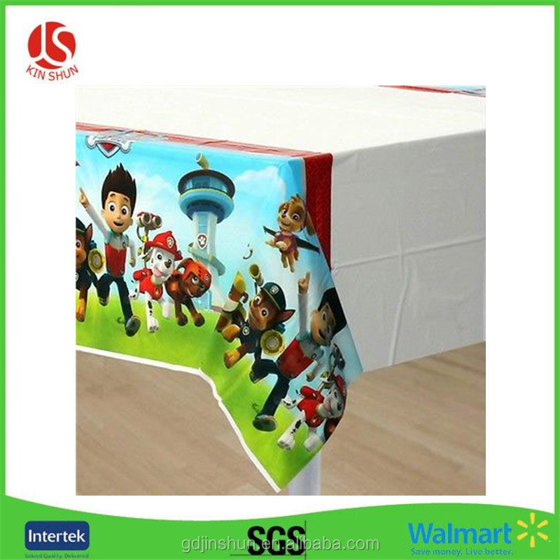 Hot sale Construction Pals Table Cover Boys Themed Birthday Party Decoration Supplies