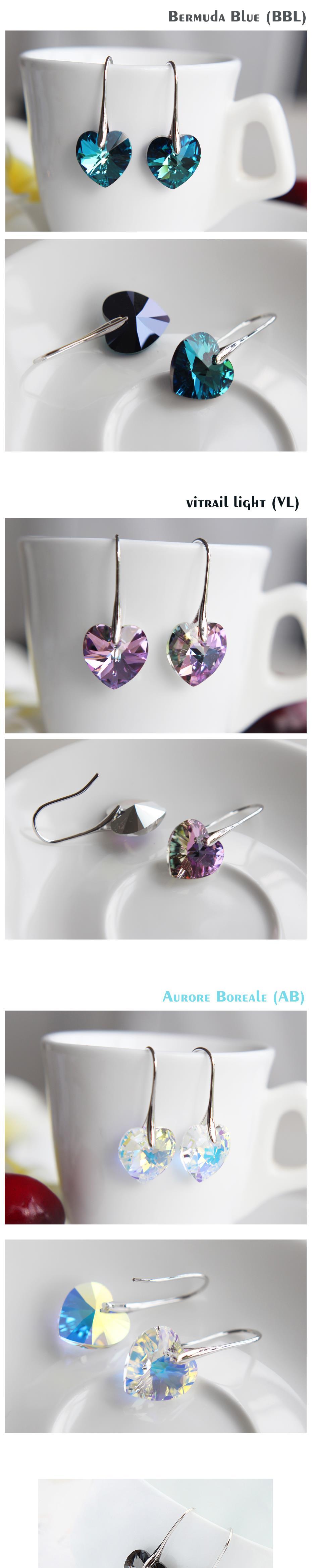 69a9b1f6b Detail Feedback Questions about BeBella crystal heart drop earrings ...