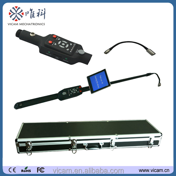 Portable flexible telescopic pole 5 inch LED monitor DVR function drain inspection video camera V5-TS1308D