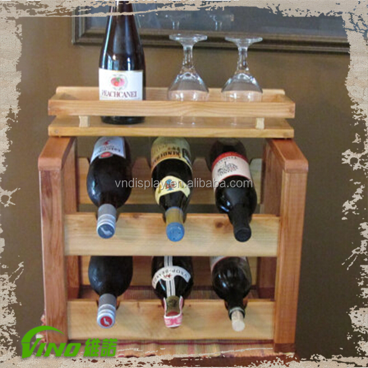 Liquor Display Showcase , Wooden Wine Liquor Display Stand Cabinet , Wine  And Liquor Cabinet