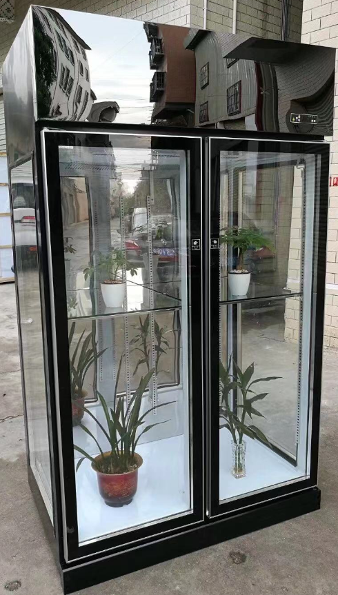 High quality supermarket flower fresh keeping refrigeration/Transparent flower display cooler flower fridge
