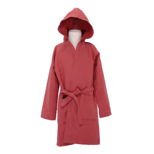 Quick Dry Microfiber Suede Hooded Bath and Beach Robe Adult