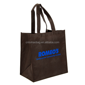 cheap recycled custom printing grocery tote shopping non-woven bag