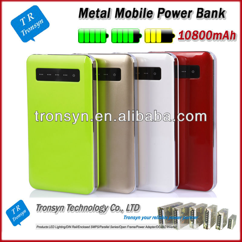 Wholesale 10800mah universal portable rechargeable wireless power bank for iPhone, iPod , Samsung, HTC and Nokia