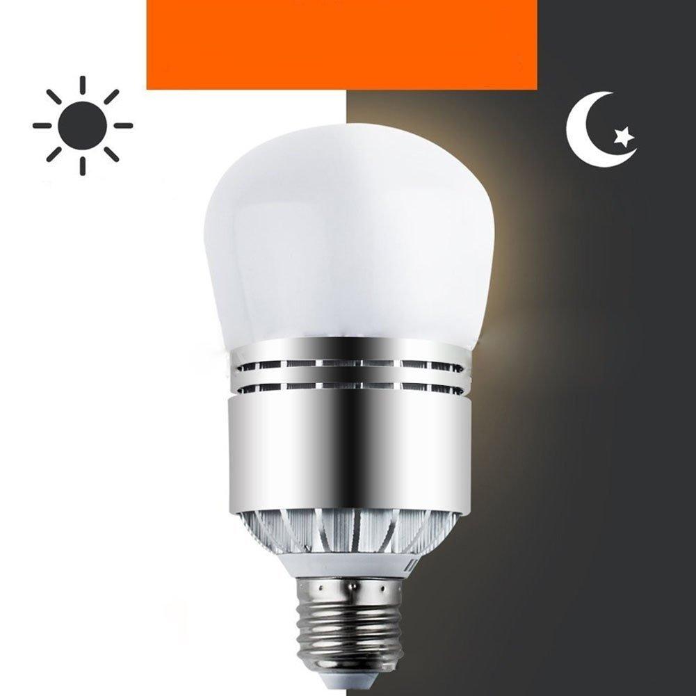 Zehui LED Ball Bulb E27 12W 85-265V Light Sensor for Stree Light Lawn Lamp Cold White
