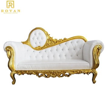 Hot sale high back double king throne chair cheap royal luxury wedding chair for groom and bride