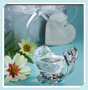 Mini Crystal Baby Carriage Baby Shower Favors Party Souvenirs