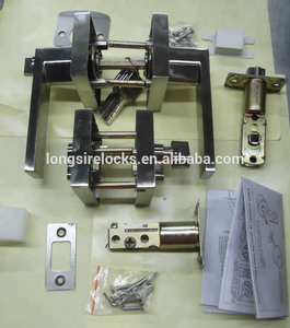 Combination locks,leverset And Deadbolt Combo for entrance door satin nickel