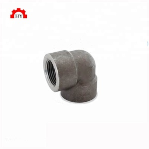 Good quality forged class 3000 carbon steel ASTM A105 sch40 1/4 inch threaded elbow