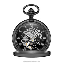 OUYAWEI Steam Punk Men Mechanical Wind Hand Vintage Pocket Watch