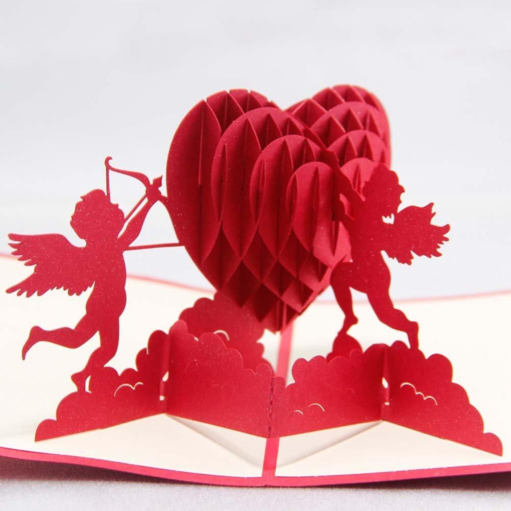 3д открытка сердце в руках