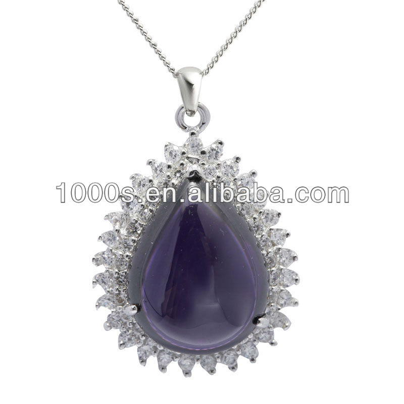 and jewelry gold amethyst today necklace pendant watches tanzanite diamond overstock miadora shipping white product purple accented free