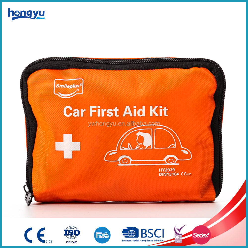Mini Red Hot Sale Car First Aid Kit for Vehicle First Aid