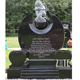 Cheap carved black stone headstone marble angel wings tombstone for graves