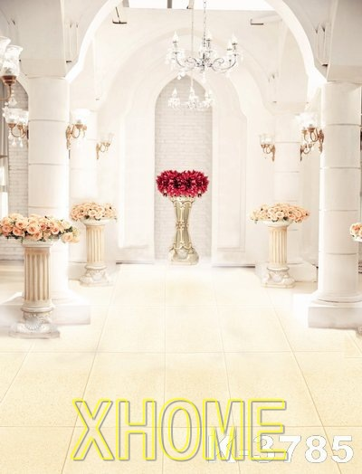 Luxurious Palace White Chromakey Photo Studio For Wedding Photography Backdrops Custom 5*7ft Backgrounds Digital Printed Newborn