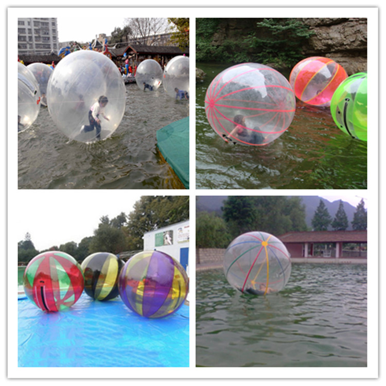 Multi colour transparent zorb ball inflatable human bumper ball, glowing inflatable rolling bubble ball