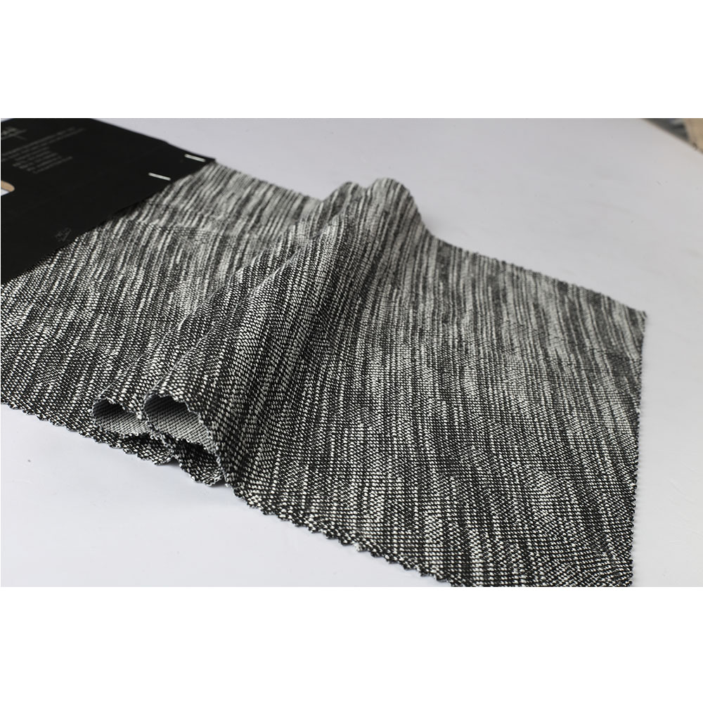 Shaoxing grey yarn dyed 100%polyester 30s weft jacquard knit fabric