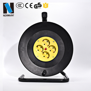 European electrical extension cord retractable cable reel electric reel