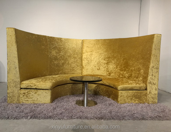 Modern Restaurant Sofa Booth With Table Sets