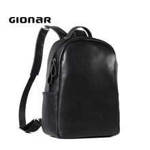 Simple Plain Design Soft Laptop Professional Cool Small Leather Backpack for Womens