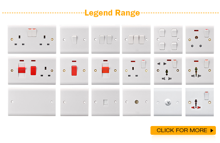Home 10A 2 gang 2 way wall electric light switch