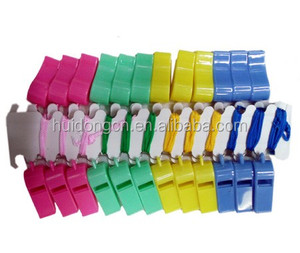Silbar 5 Colors Logo Customized With Lanyard Plastic Toy Whistle