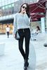 2017 seamed solid color tight leggings for women