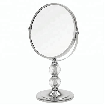 Chrome acrylic crystal ball makeup cosmetic vanity dressing desktop mirror