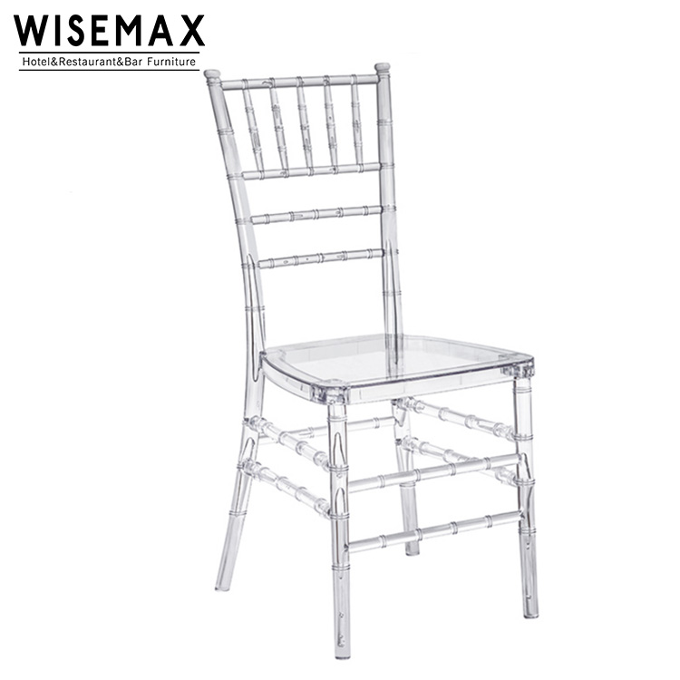 Hot sale high quality party clear acrylic ghost resin chiavari chair for wedding